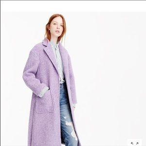 J Crew Women's Long Wrap Coat In Boiled Wool PXS